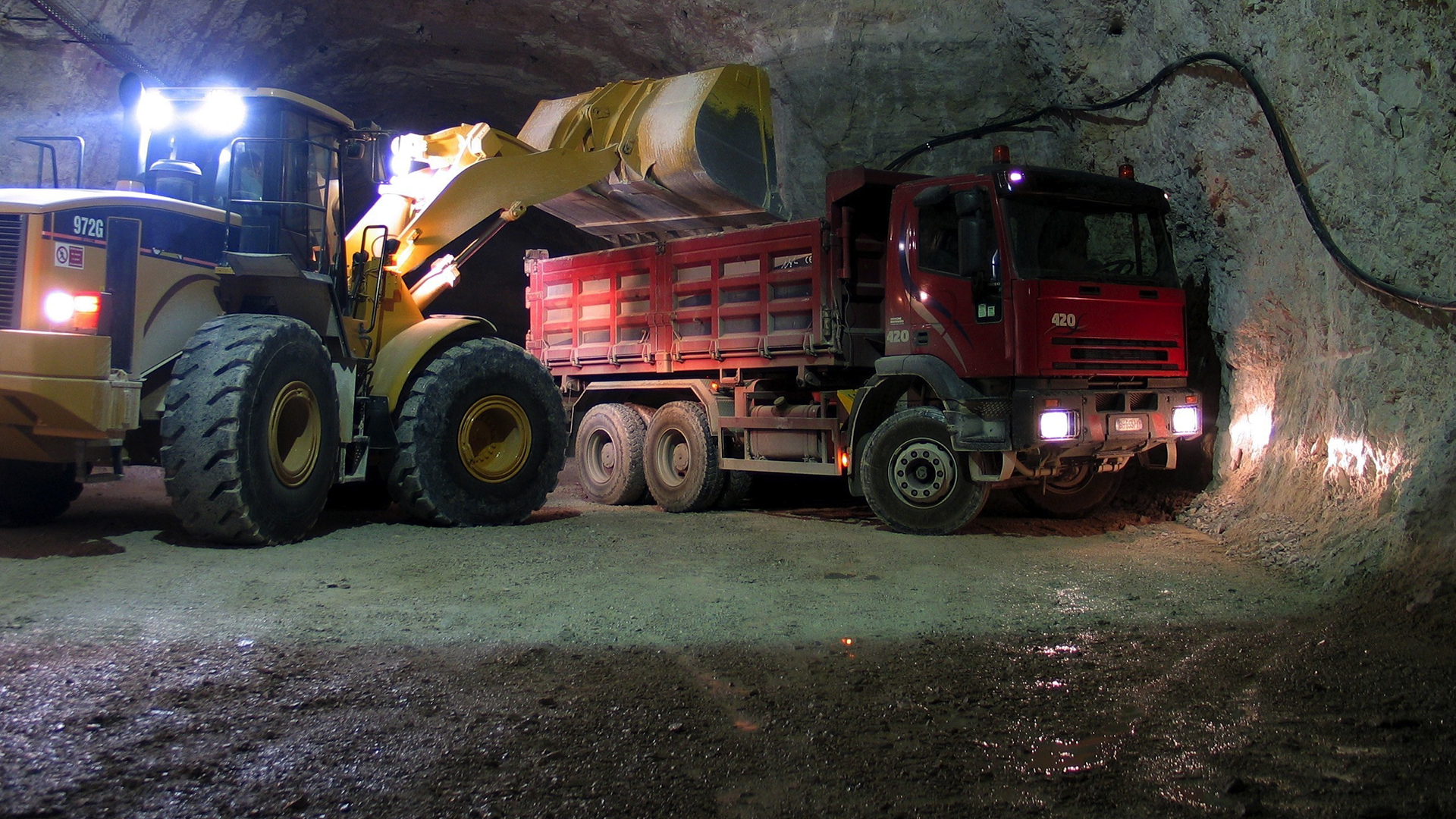 Mining Vehicles Image